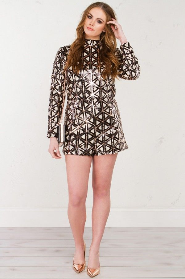 90cee23c52c8 PARTY FEVER SEQUIN ROMPER  PLUS  - Purchase at www.shopakira.com ...