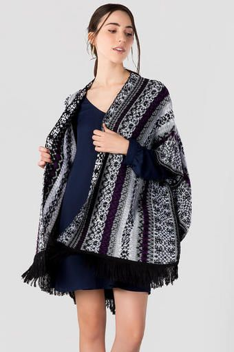 Camille Poncho Sweater Wrap