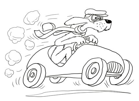 Go Dog Go Coloring Page From Go Dog Go Category Select From