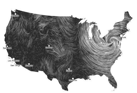 Daily Infographic Gorgeous Wind Map Captures Sandy In Real Time Popular Science Wind Map Weather Map Wind
