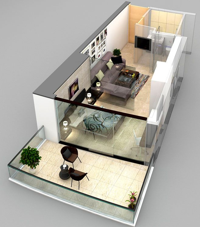 studio apartment floor plans 3d. Brookside 3d floor plan 1  Ozark 3rd Floor Concepts Pinterest Story house House and Modern