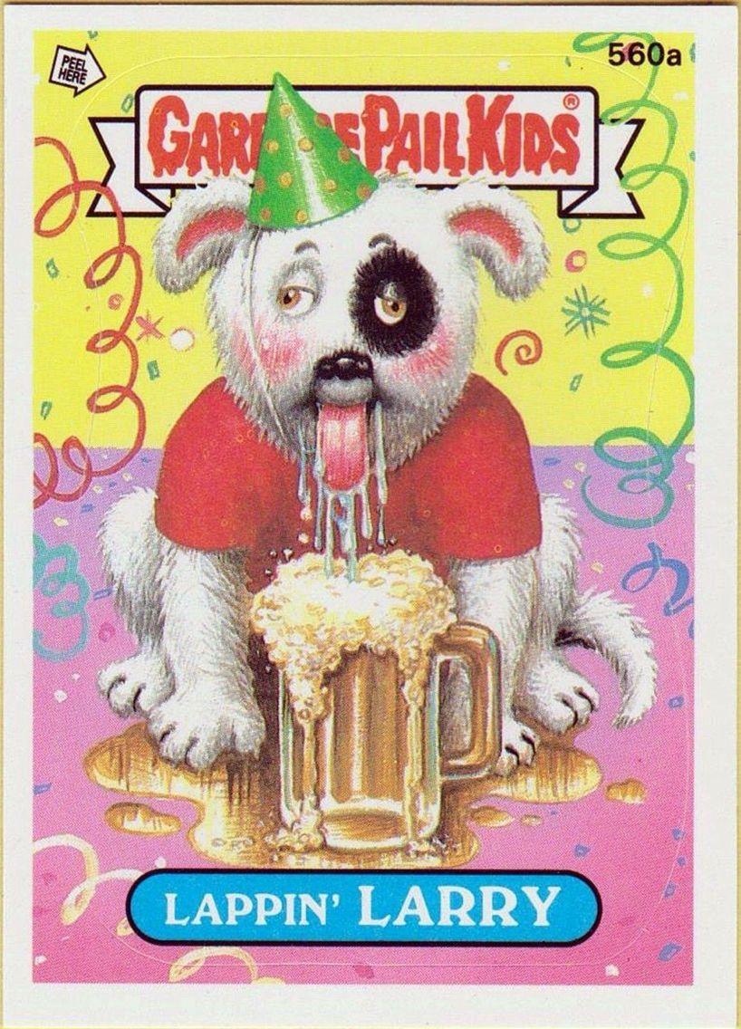 Lappin Larry Garbage Pail Kids Garbage Pail Kids Cards Kids Stickers