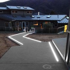 In Ground Led Strip Light In 2019 Driveway Lighting Led