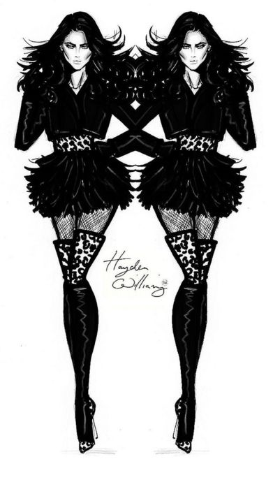 'Black Magic' fashion sketch by Hayden Williams