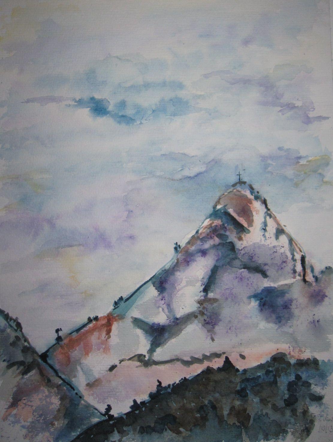 Montagne Sainte Victoire Aquarelle Sur Papier 40 50 Aquarelle