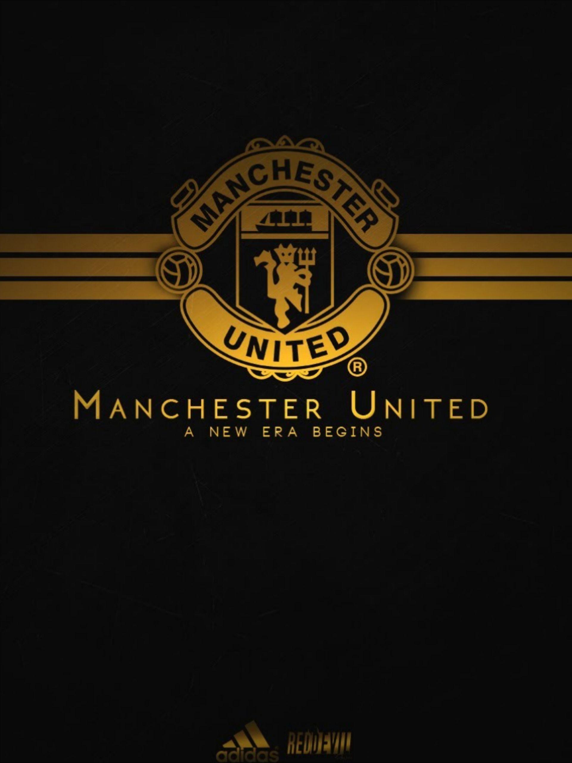 Manchester United A New Era Begins Manchester United Manchester United Logo Manchester United Wallpaper