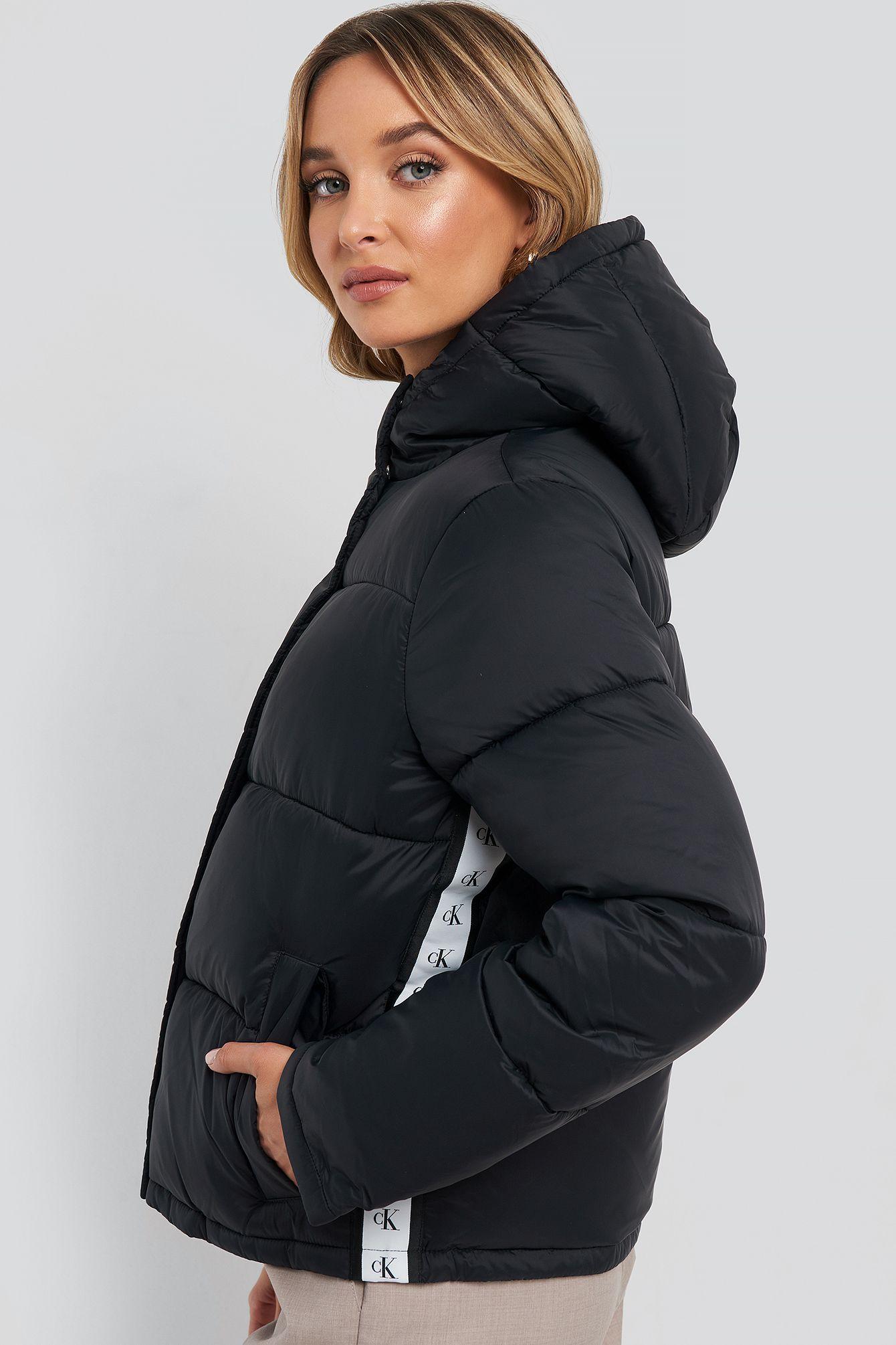 Calvin Klein Monogram Tape Lw Puffer Jacket Black Calvinklein Cloth Puffer Jacket Black Calvin Klein Calvin [ 2010 x 1340 Pixel ]