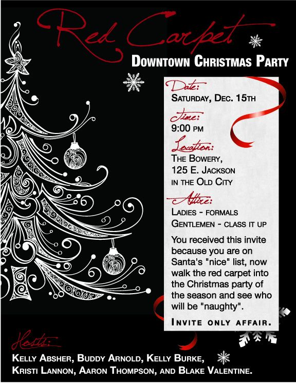 Email Invitation I Made For A Christmas Event  My Invitations
