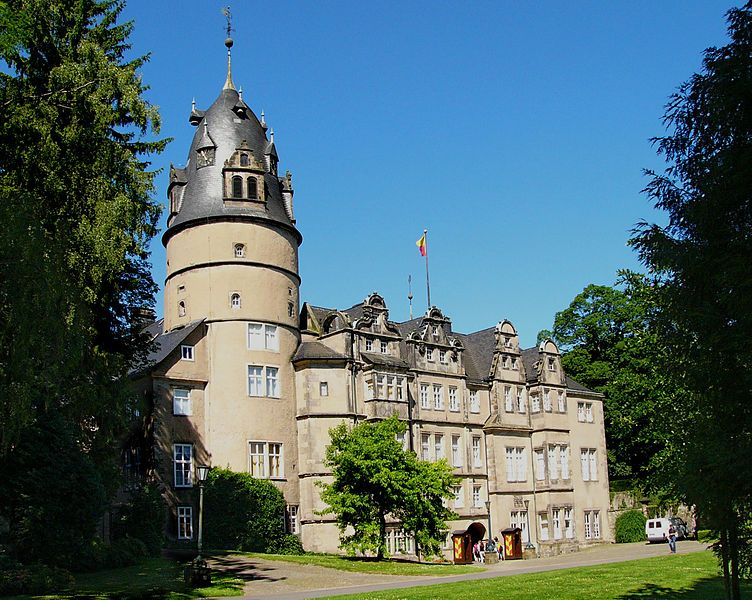 Detmold Castle in the Teutoburg Forest, North Rhine
