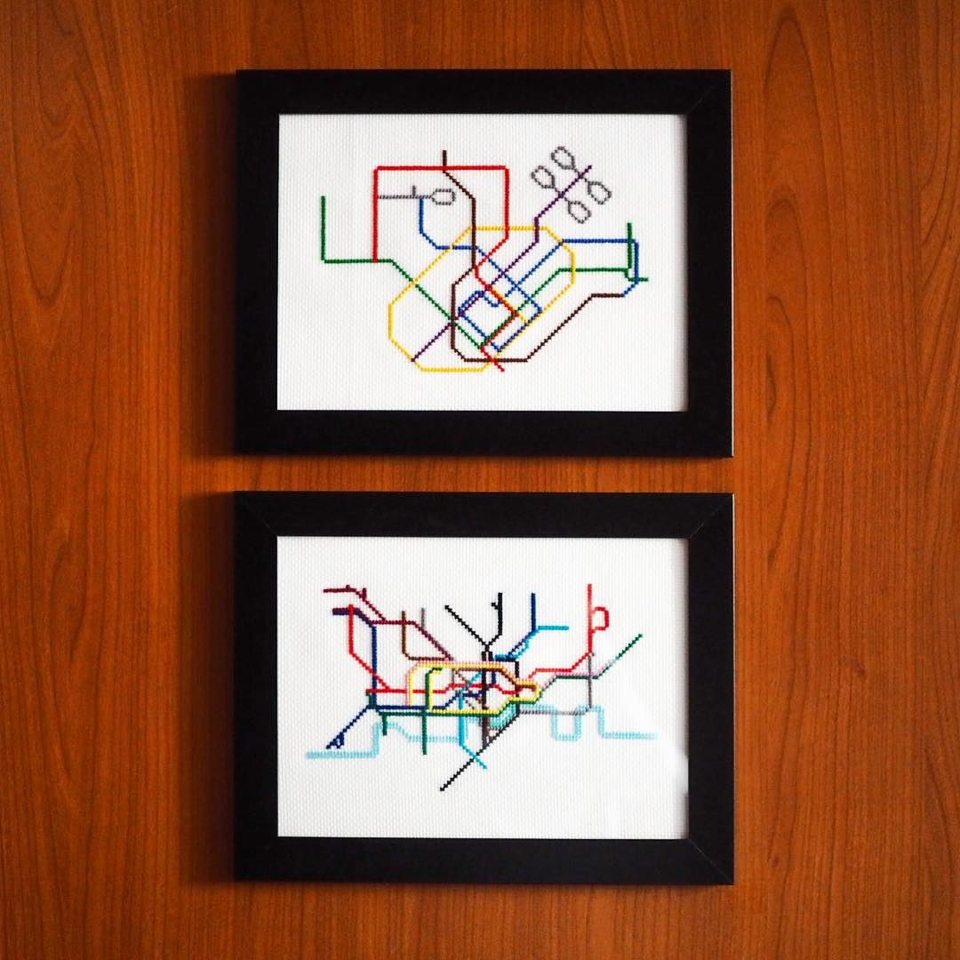 Simply adorable cross stitch versions of the 2025