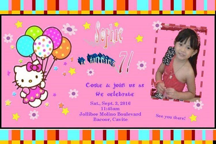 Handmade Birthday Invitation Card Jollibee Birthday