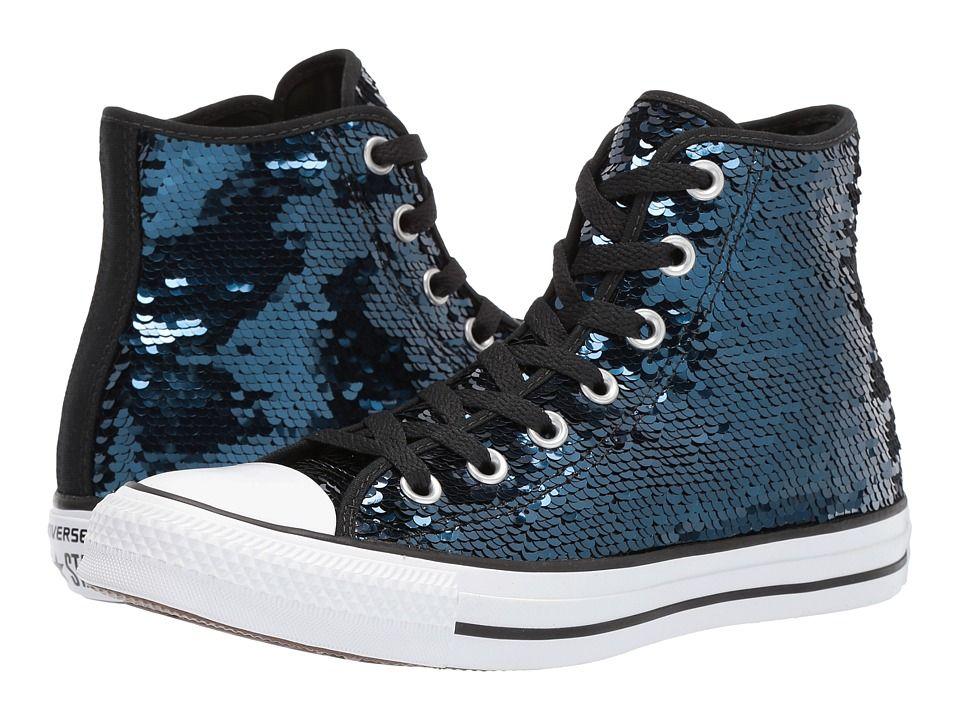 b57b483f2193 Converse Chuck Taylor(r) All Star(r) Sequins Hi Women s Classic Shoes  Midnight Indigo Black White