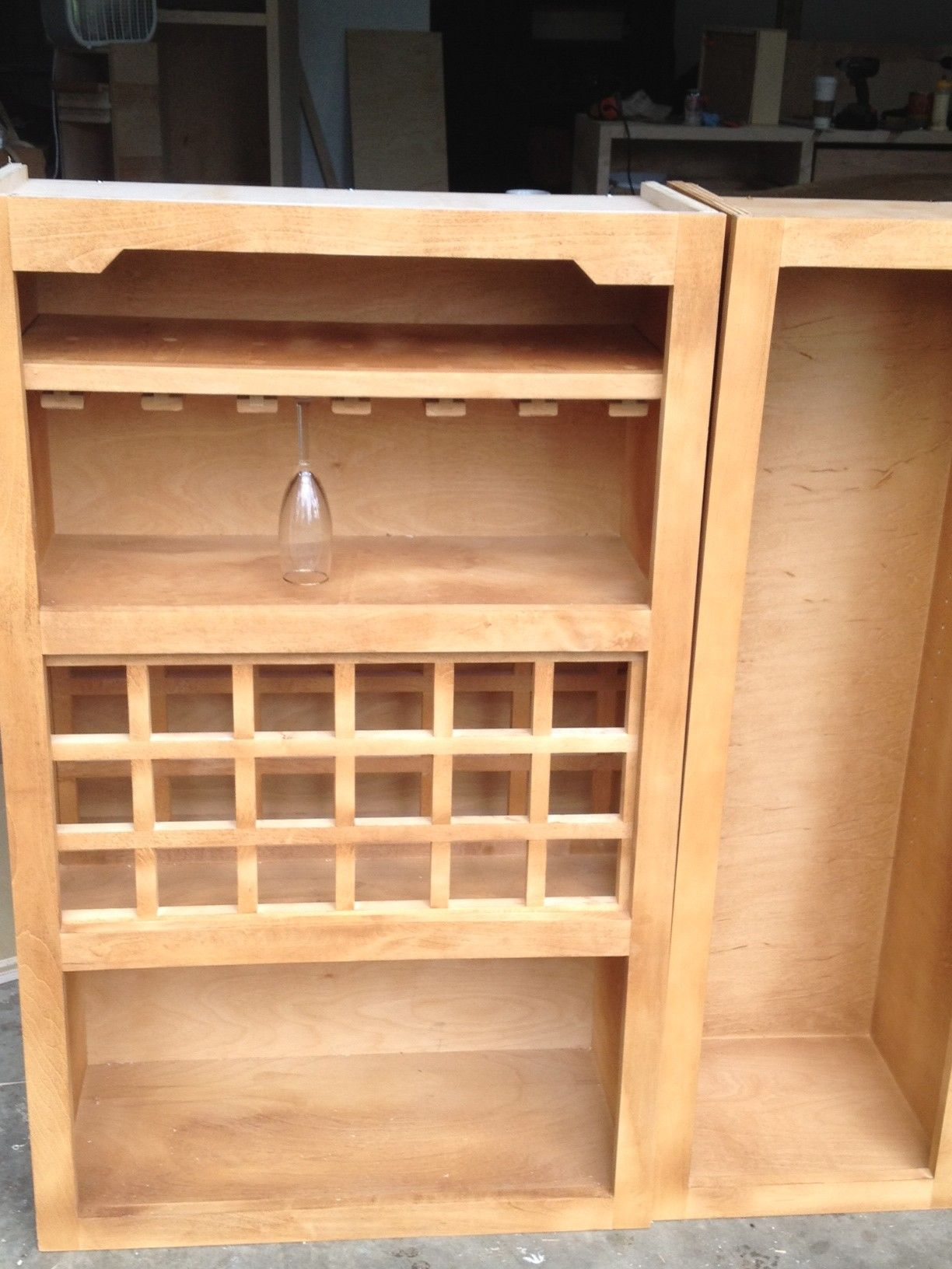 Use this free wine rack plan to build a stylish shelf that holds ...