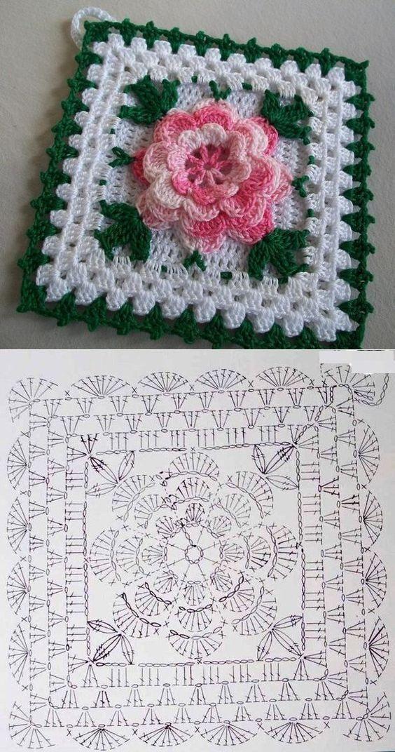 Ooops Quadradinhos De Croche Tapete De Croche Quadrados De Croche