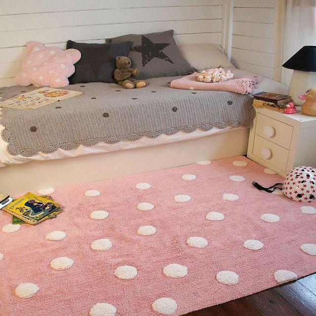 Alfombra lorena canals topos rosa habitaci n vega - Alfombras habitacion ninos ...