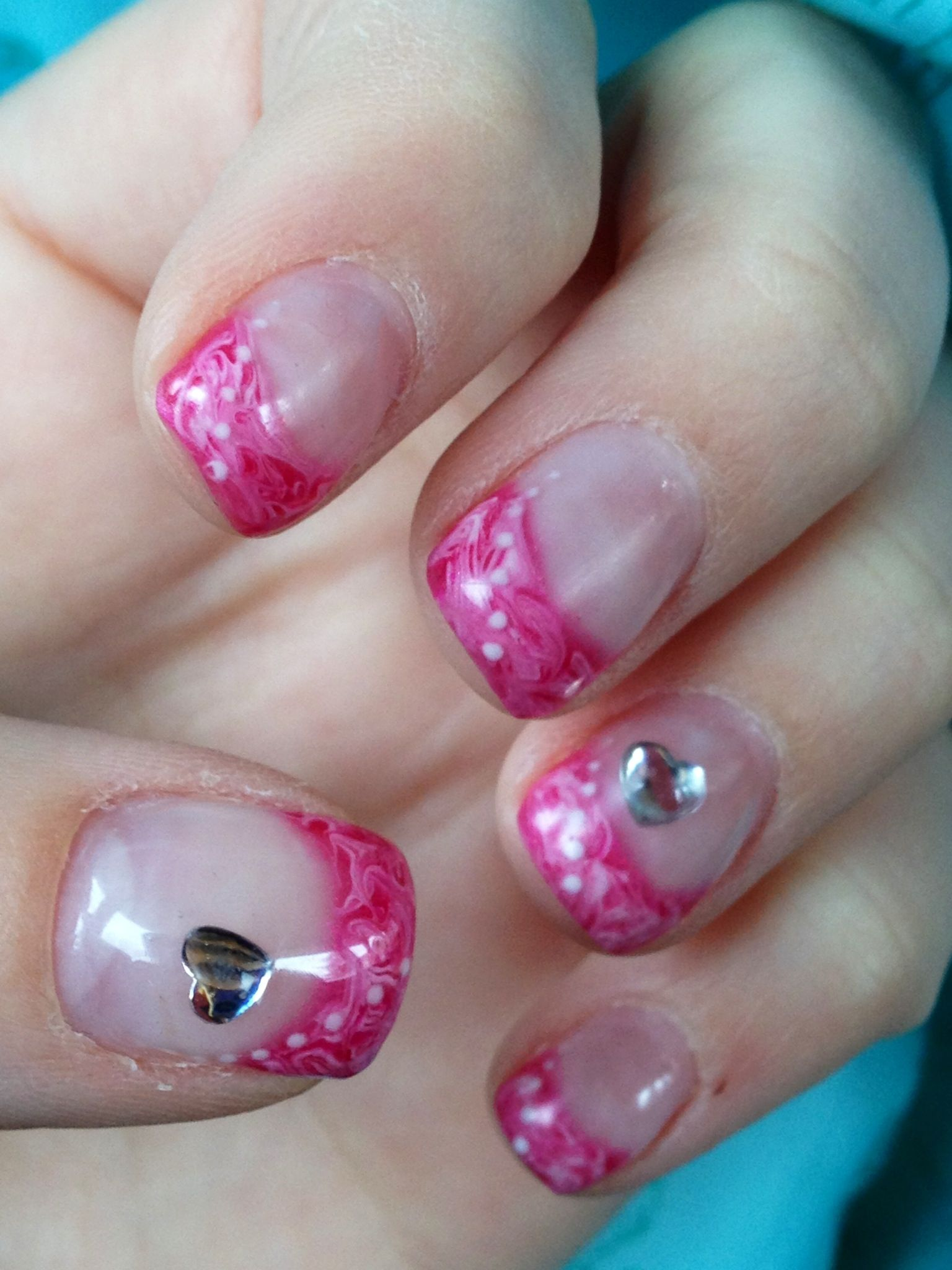 Valentine\'s Day gel nail design | Beauty and make up | Pinterest ...