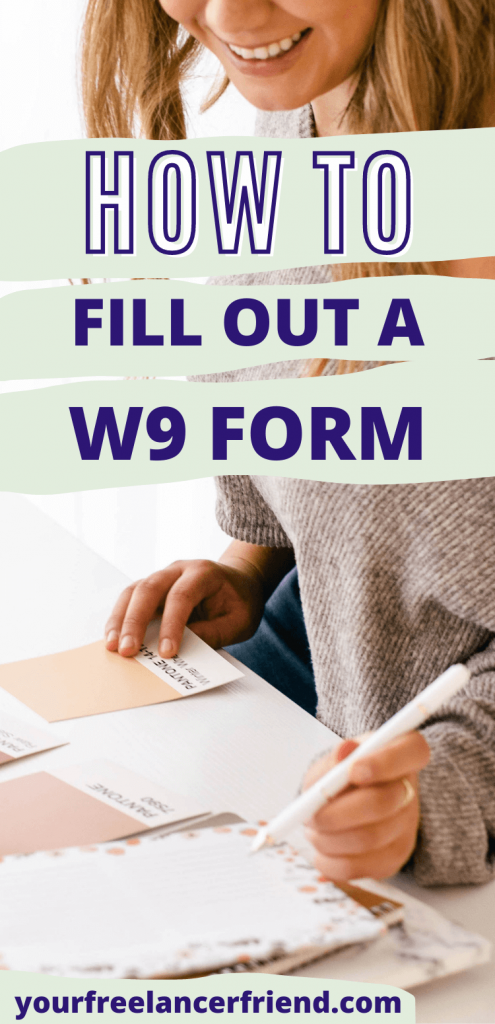 How To Fill Out A W9 Form As A Single Member Llc Freelance Writing Start Freelance Writing Freelance