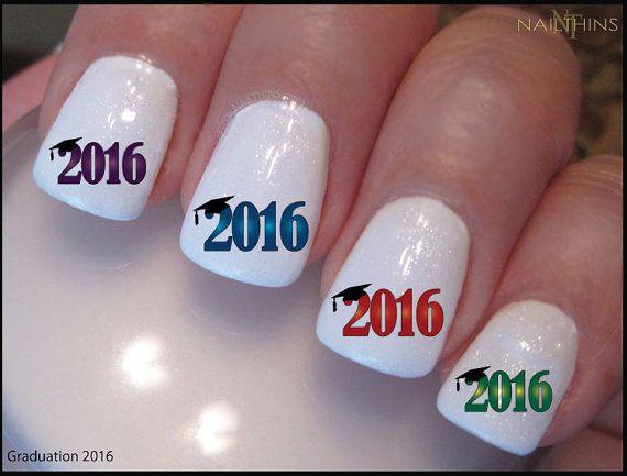 2016 or 2015 Graduation Nail Decal Graduation Nail Design NAILTHINS - 2017 Graduation Nail Decal Graduation Nail Design NAILTHINS Nail