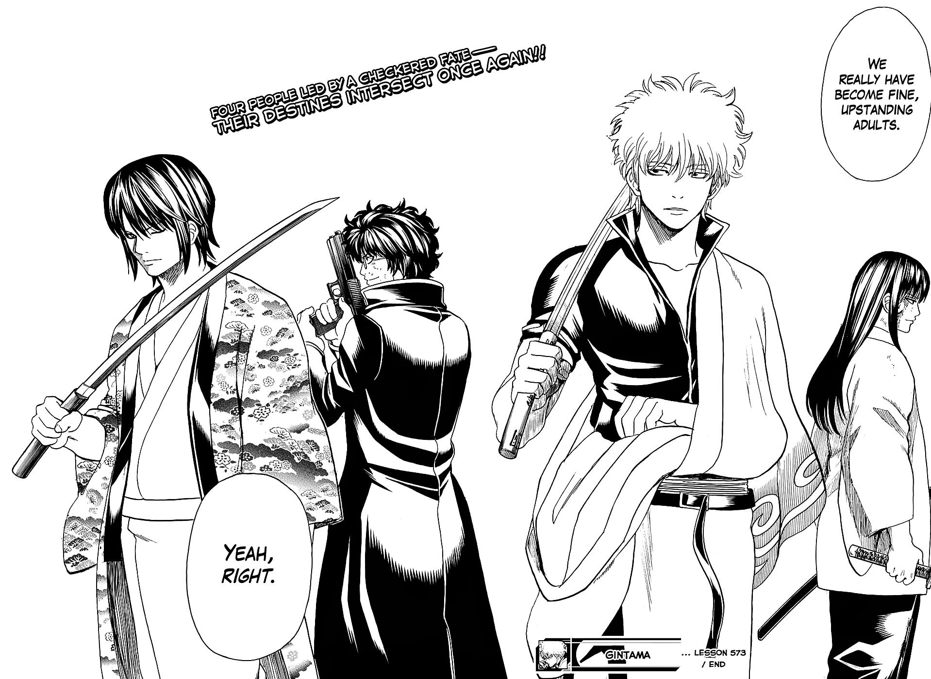 This is the ultimate 4people team ever made Gintama
