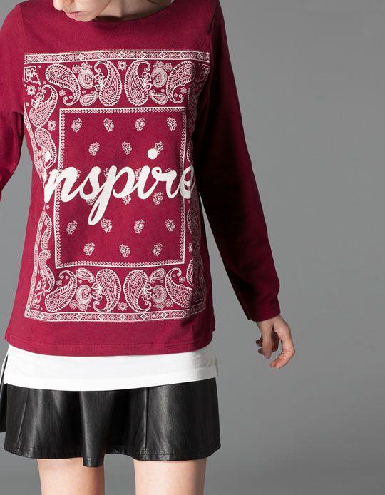 Stradivarius Bandana print sweatshirt