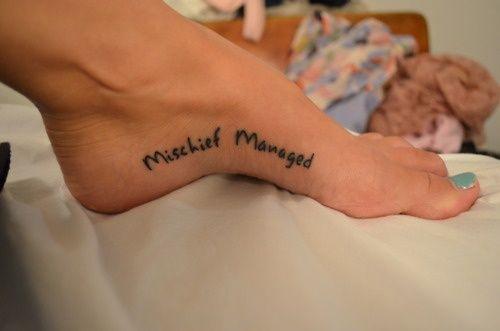 Harry Potter tattoo!