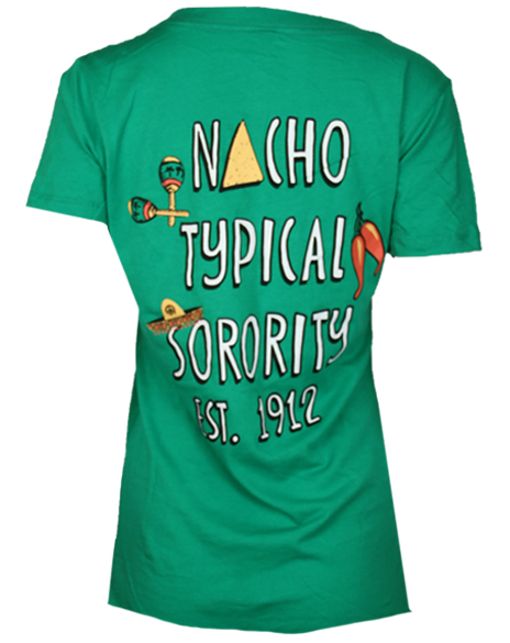 d9601db86489 Theta Phi Alpha Nacho Typical Sorority Vneck Tshirt by Adam Block Design