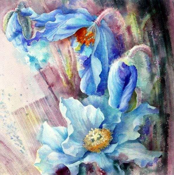 Moudru Marie Claire Fleur3 Art Floral Aquarelle Florale