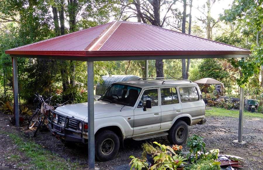 Hip Roof Carport DIY Kits for sale. Genuine Colorbond