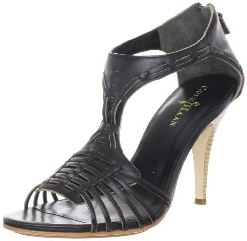 Cole Haan Womens Valencia Air T-Strap Sandal,Black,9.5 B US.  check discount today! click picture on top