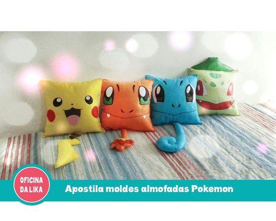 Apostila molde almofada pokemon   cojines   Pinterest