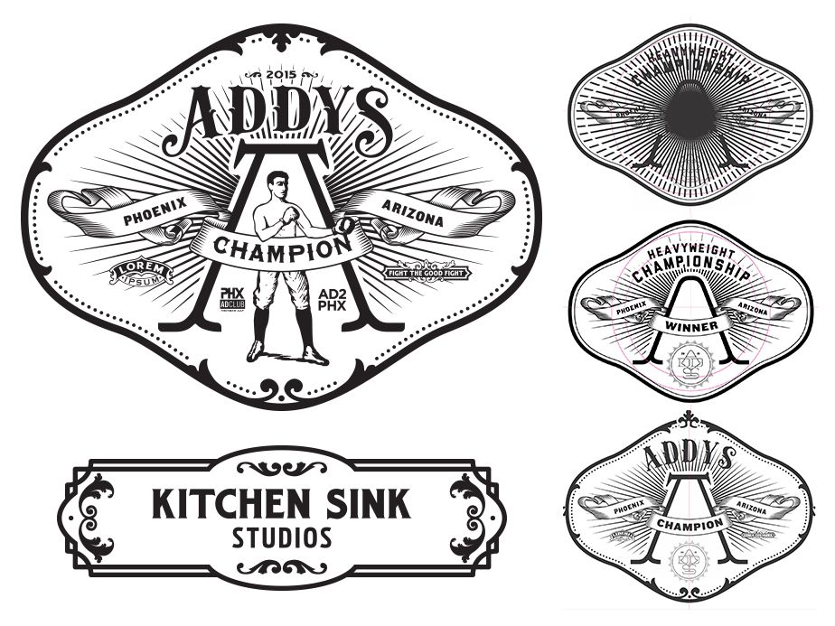 Kitchen Sink Studios | 2015 ADDY\'S Champion Belt Logos | Logos ...