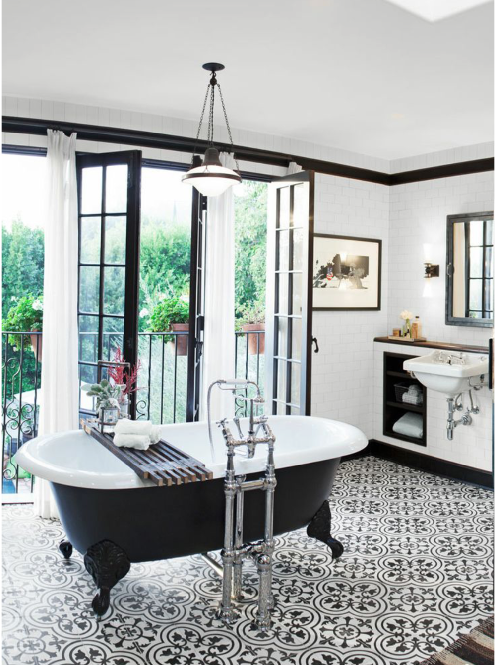 The 15 Most Beautiful Bathrooms On Pinterest Geometric Tile