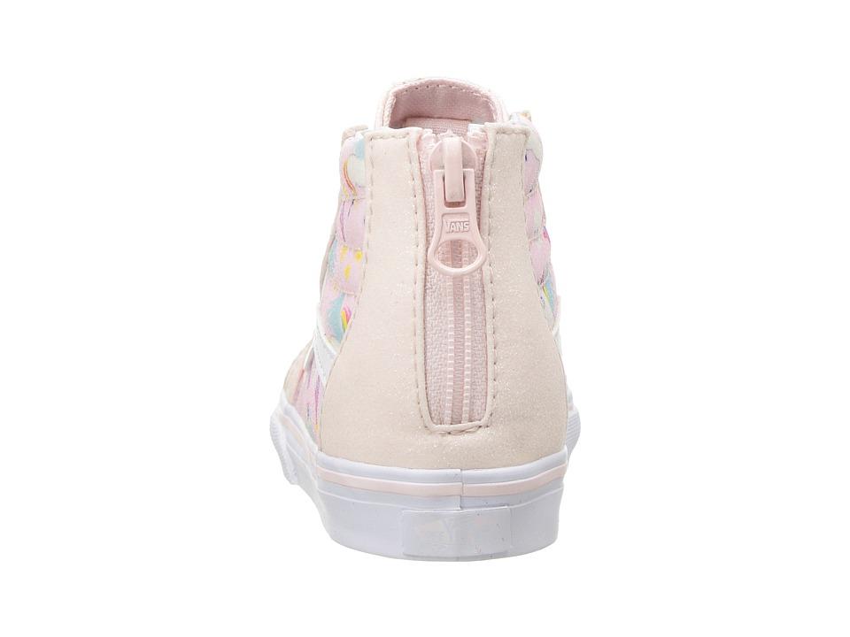 e919d21000 Vans Kids Sk8-Hi Zip (Infant/Toddler) Girls Shoes (Glitter Pegasus ...