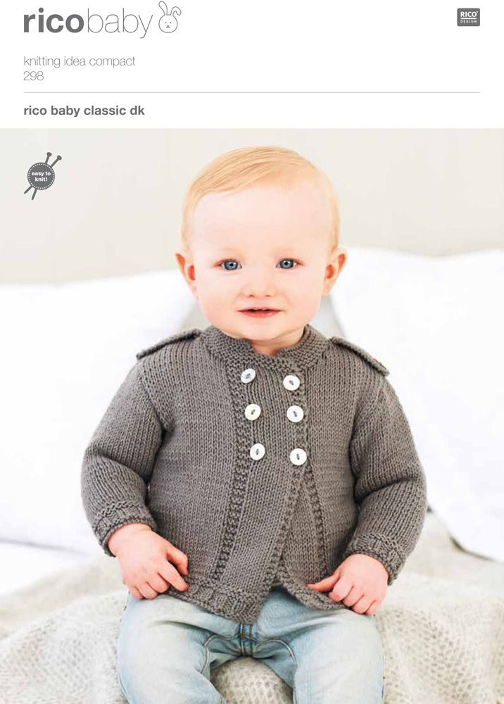 Cardigans in Rico Baby Classic DK 298 | Knitting patterns