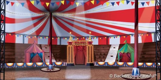 Circus Interior | The Greatest Showman | Backdrops Beautiful | Hand Painted Scenic Backdrop ...