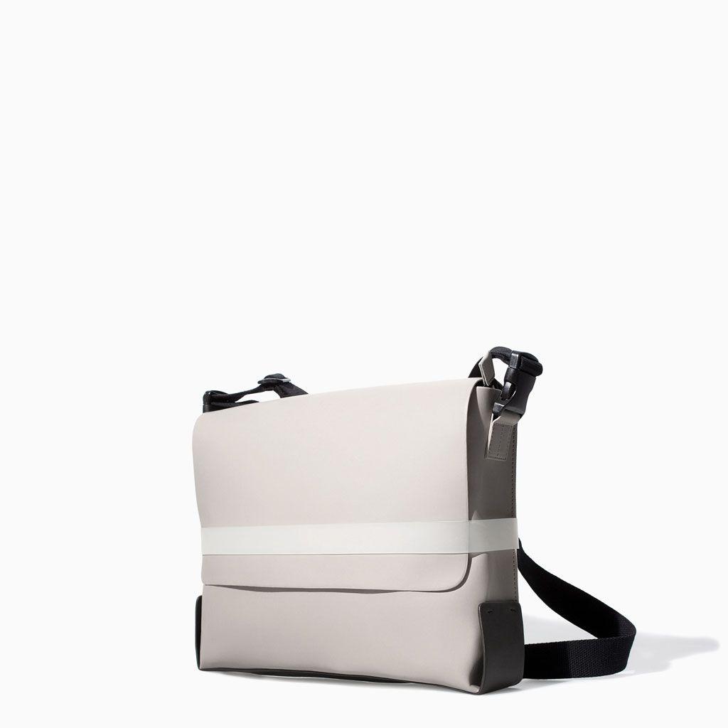 Vinyl Messenger Bag From Zara Acessories Bags Fashion