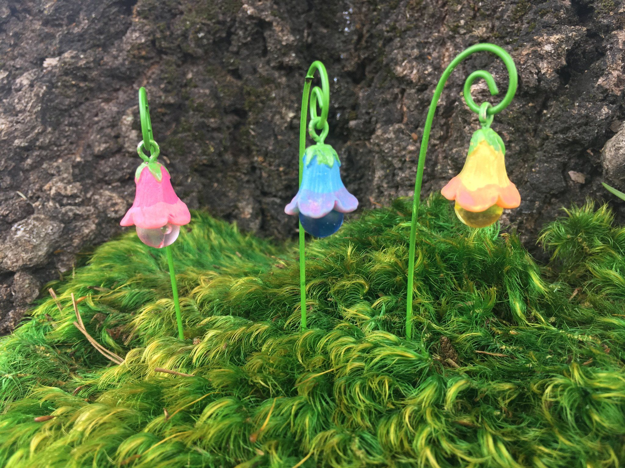 Glow in the dark bell flower garden decor | Walkways, Gardens and Flower