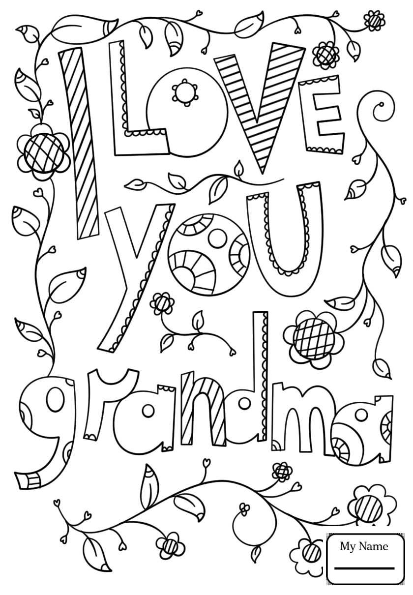 I Love Grandma Coloring Pages Free Heart Coloring Pages Mothers Day Coloring Pages Birthday Coloring Pages