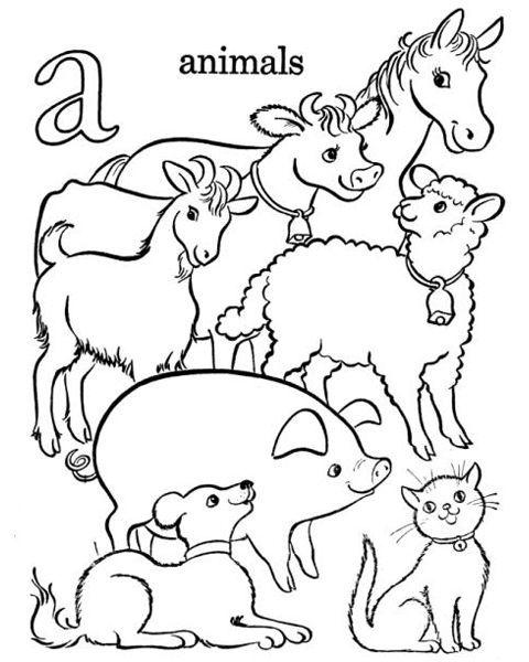 Bauernhof Alphabet Malvorlagen 3738 | KITA | Pinterest | Alphabet ...