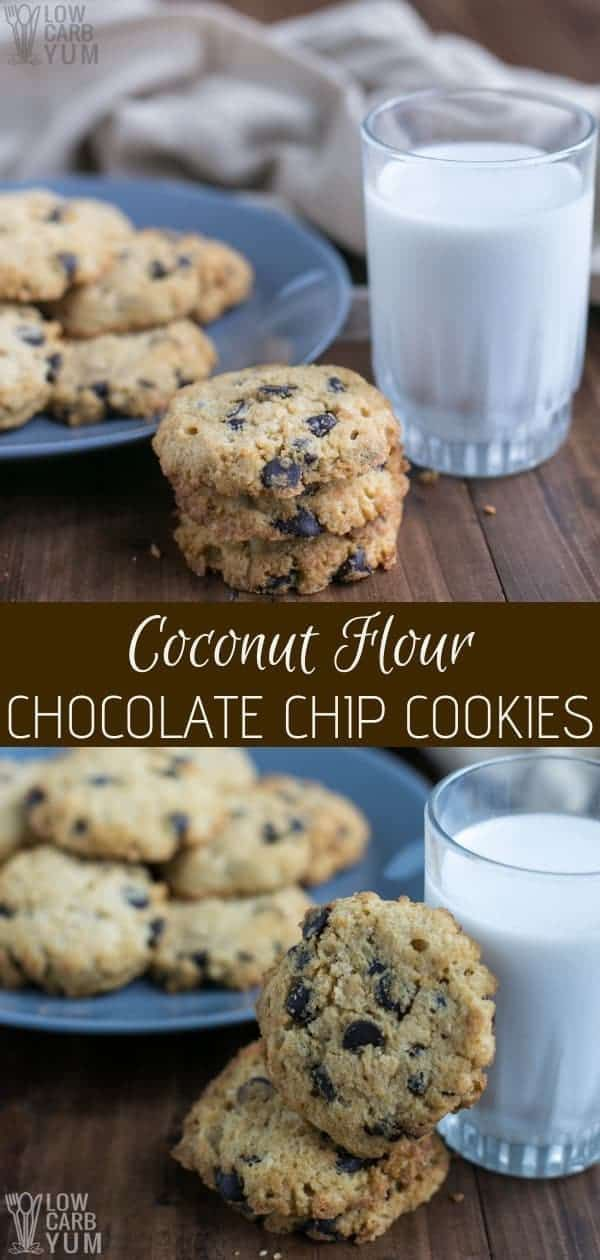 a keto lifestyle but can't give up cookies? No worries! You can make these easy coconut flour chocolate chip cookies and stay on plan. | Following a keto lifestyle but can't give up cookies? No worries! You can make these easy coconut flour chocolate chip cookies and stay on plan. |