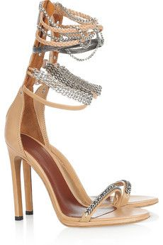 Rio chain-strapped leather sandals