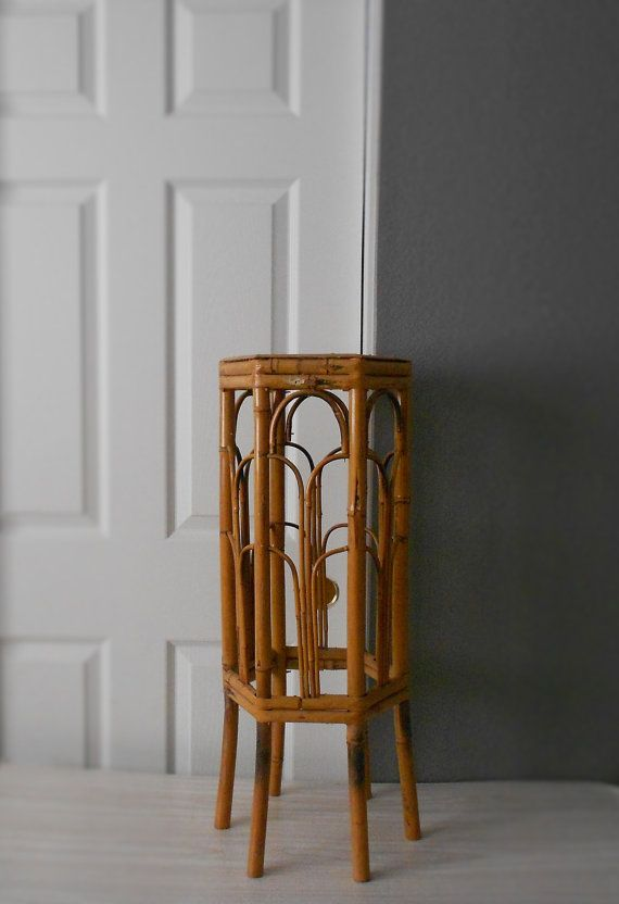 Vintage Bamboo Plant Stand Gorgeous Planter Stand With An Octagon