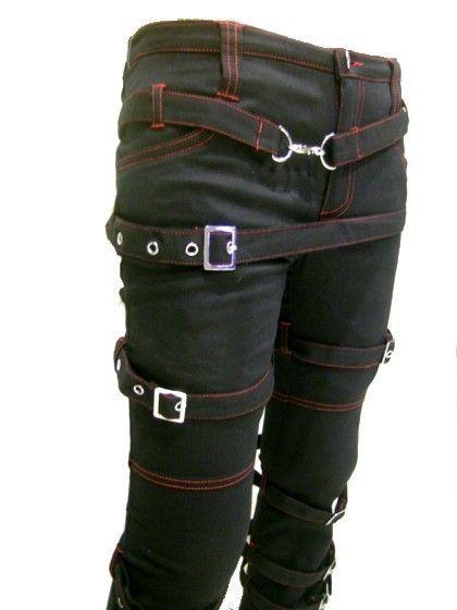 Punk Destruction Steampunk bondage pants $94.99