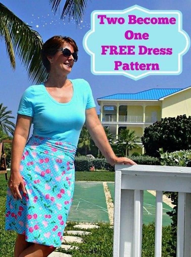 Two Become One Dress Craftsy Sewing Dresses Skirts
