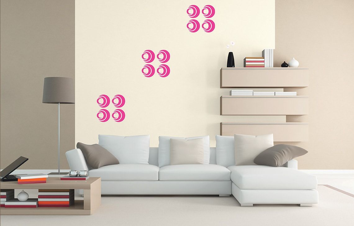 Wall fashion circle design for bed room