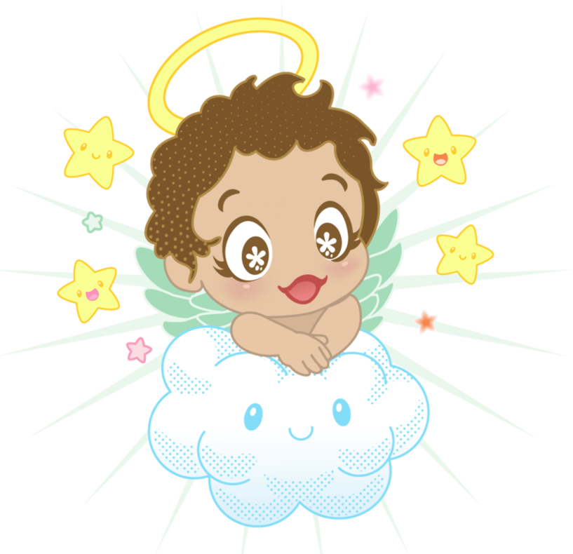 Small Angel With Cloud And Stars Png Clipart Clip Art Small Angel Angel