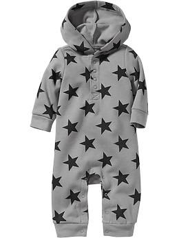1352b3357ecf Hooded Star-Print Fleece One-Pieces for Baby OLD NAVY SIZE requested   6-12  M