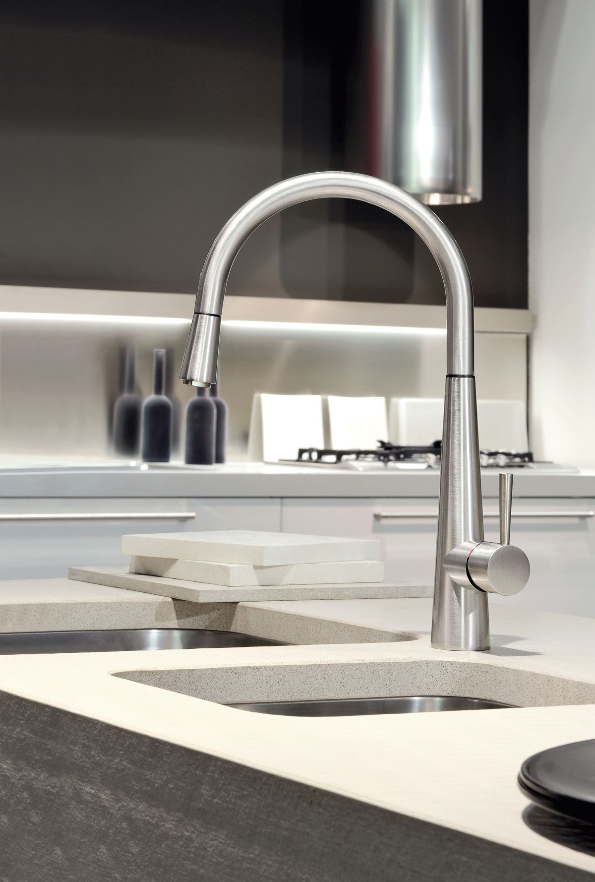 Gessi Just with pull-out rinse. http://www.sinks-taps.com/item ...