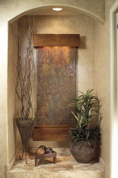 Wall Water Features Inspiration Falls Slate Contemporary