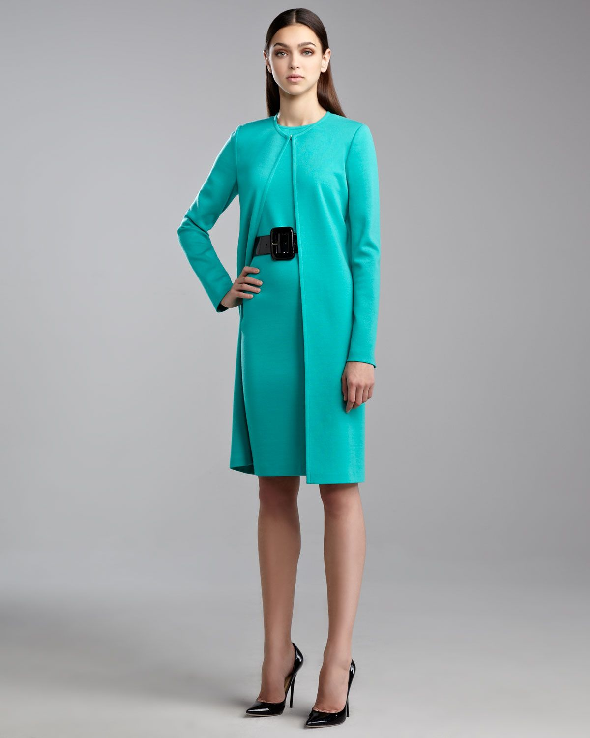 Sheath Dress With Long Jacket